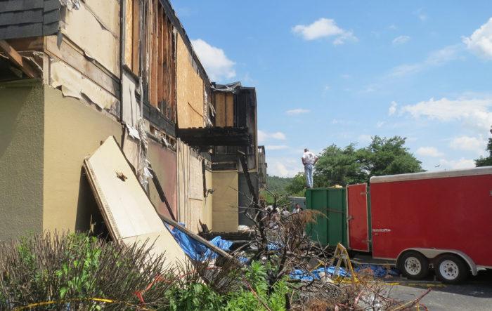 a photo of emergency restoration work