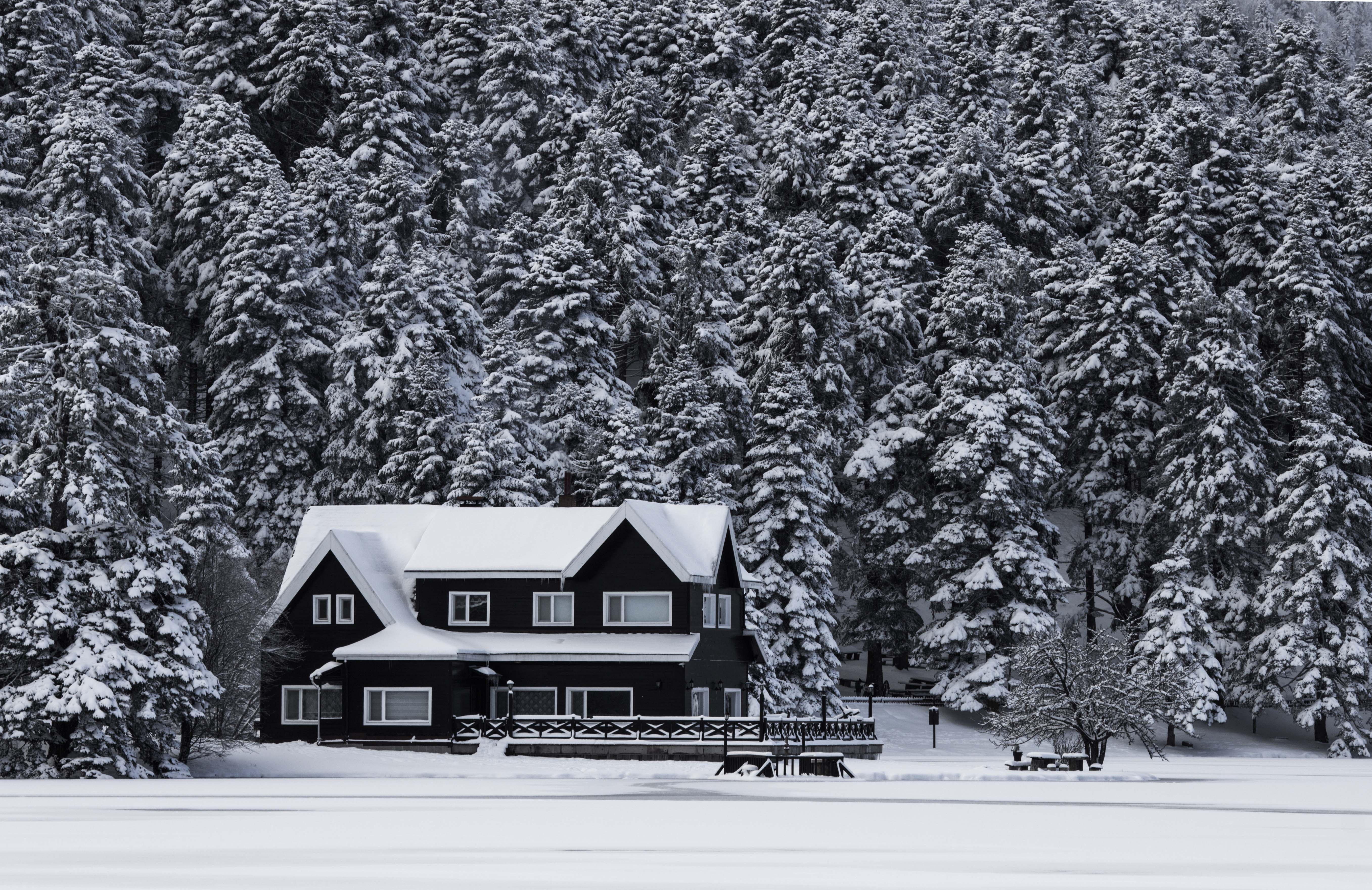 a photo of a property in the winter