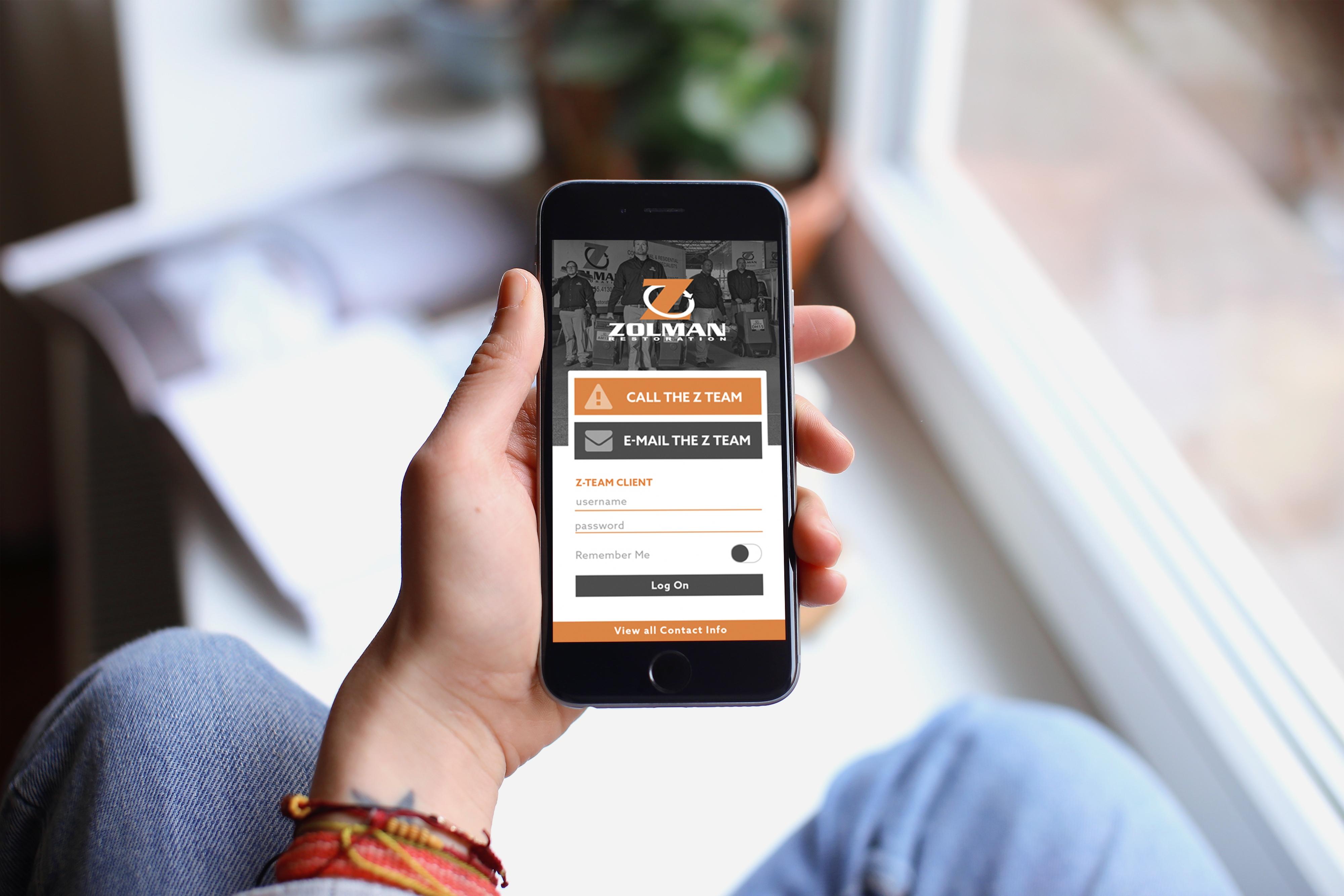 a photo of the zolman restoration app